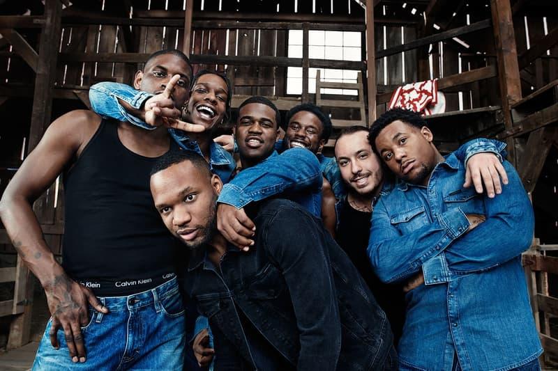 Calvin Klein のキャンペーンシリーズに NY の最重要ヒップホップクルー A$AP Mob が登場 エイサップ モブ カルバン クライン キャンペーン クルー ヒップホップ モデル 起用 デニム ジーンズ MYCALVINS #MYCALVINS hypebeast ハイプビースト