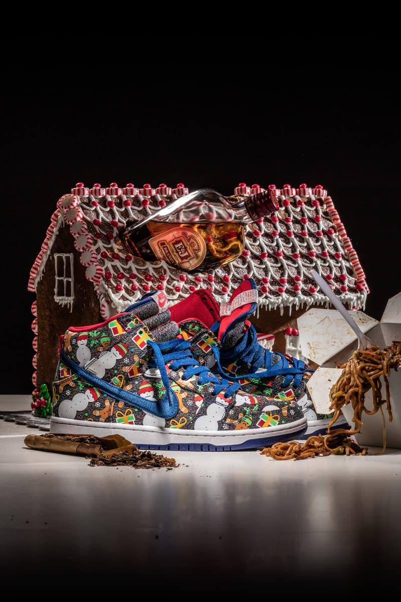 """ナイキxコンセプツよりクリスマスシーズンに向けたDunk Pro High """"Ugly Sweater""""モデルが登場 nike concepts"""