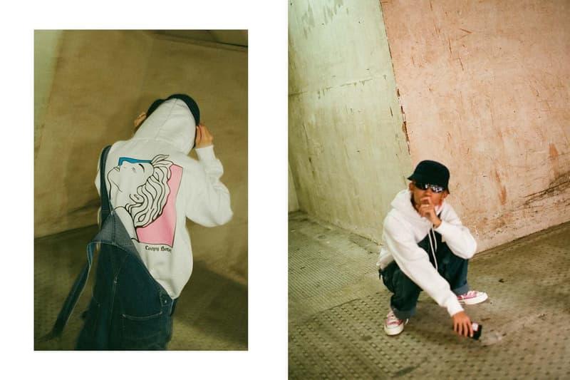 """HBX が展開する気鋭の東京ブランドに焦点を当てた最新エディトリアル """"Skypager(ポケベル)"""" LOOPY HOTEL CLBUN という毛色の違う次世代ストリートレーベルに期待する新時代の礎 ルーピーホテル シーエルビーユーエヌ Tシャツ ストリート HYPEBEAST ハイプビースト"""