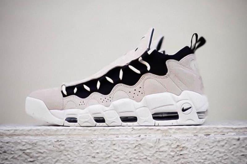 "Nike よりカタカナと""¥""マークを施した Air More Money の日本限定モデルが登場 日本における最重要スニーカーリテーラー『mita sneakers』の Instagram には近日発売を匂わす金網背景の画像投稿が…… mita sneakers ミタスニーカーズ HYPEBEAST ハイプビースト"