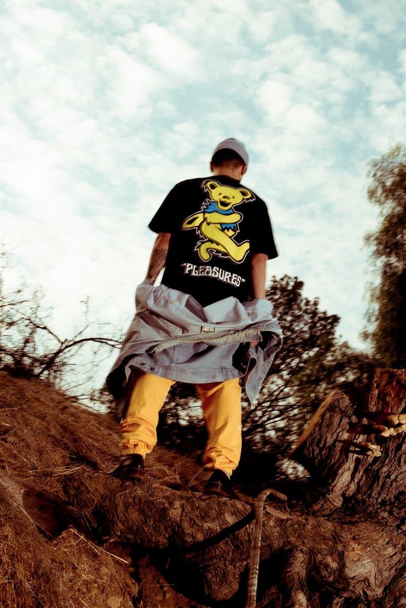 PLEASURES x カリフォルニアの伝説的バンド The Grateful Dead によるカプセルコレクションが登場 プレジャーズ ザ グレートフル デッド カプセル コレクション バンド ヒッピー サイケデリック コラボ ハイプ ビースト hypebeast