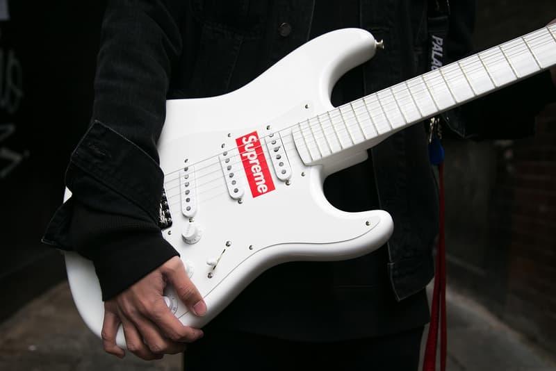 フェンダー コラボギター も登場した シュプリーム 最新 ドロップ の様子を ロンドン からお届け fender supreme