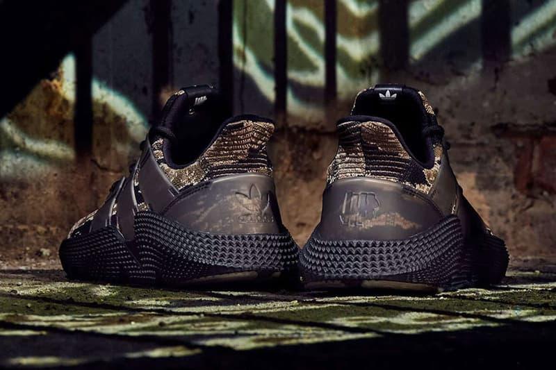 "adidas Originals x UNDEFEATED によるコラボ Prophere ""Tiger Camo"" にクローズアップ アディダス アンディフィーテッド"