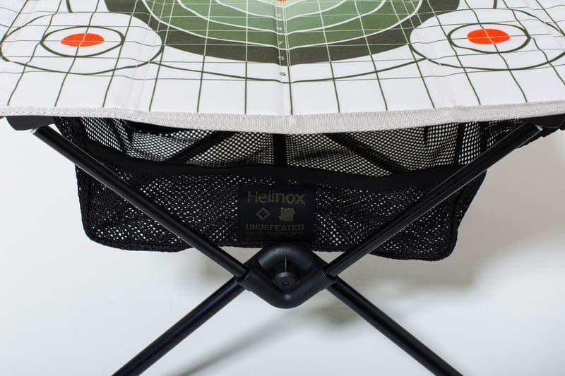 """UNDEFEATED より Helinox 別注の""""買い""""なテクニカルチェア&テーブルが登場 射撃の標的をデザインに採用したミリタリーな仕上がりが嬉しいアウトドアグッズ  アンディフィーテッド  ヘリノックス コラボ 発売日 価格 プライス 値段 取り扱い 店舗 HYPEBEAST ハイプビースト"""