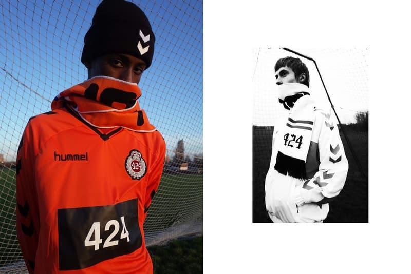 """Hummel x 424 がフットボール文化を讃えるカプセルコレクションを制作 今、ストリート界では""""サッカー""""が熱い 友好な関係を築くGuillermo Andrade(ギレルモ・アンドラーデ)主宰の『424』と〈hummel(ヒュンメル)〉が再び手を組み、フットボールカルチャーを讃えるカプセルコレクションを制作した。スポーツ/スタイルの融合を目的とした最上級のプロジェクト""""HUMMEL HIVE""""の一環として登場する新作アイテムは、デンマーク発の同ブランドの根幹をなすサッカーとの深い繋がりとAndradeの個人的なスポーツへの愛を色濃く反映し、既存のフットボールウェアをファッション志向で仕上げることに成功。両者のロゴを巧みに応用した各プロダクトは、そのカラーパレットからオランダ代表へのトリビュートを感じてしまう。  〈hummel〉x『424』は、現在『hummel.net』ならびに『FourTwoFour on Fairfax』にて購入可能。あわせて、オンコートとオフコートの架け橋となる〈adidas Football(アディダス フットボール)〉の新パッケージ""""COLD BLOODED PACK""""もチェックしてみてはいかがだろうか。 HYPEBEAST ハイプビースト"""