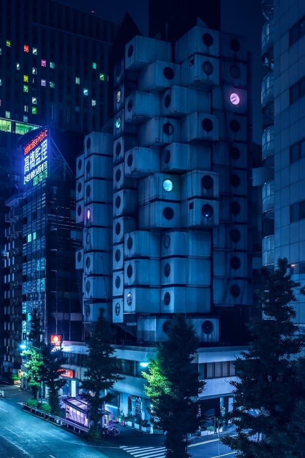 『ブレードランナー』の世界観で切り取られたSF感満載の景色 見慣れた夜の東京と著名建築に対して新たな視点をもたらす日本人必見のフォトセット 江戸東京博物館 フジテレビ 本社ビル スーパードライホール 東京ビッグサイト