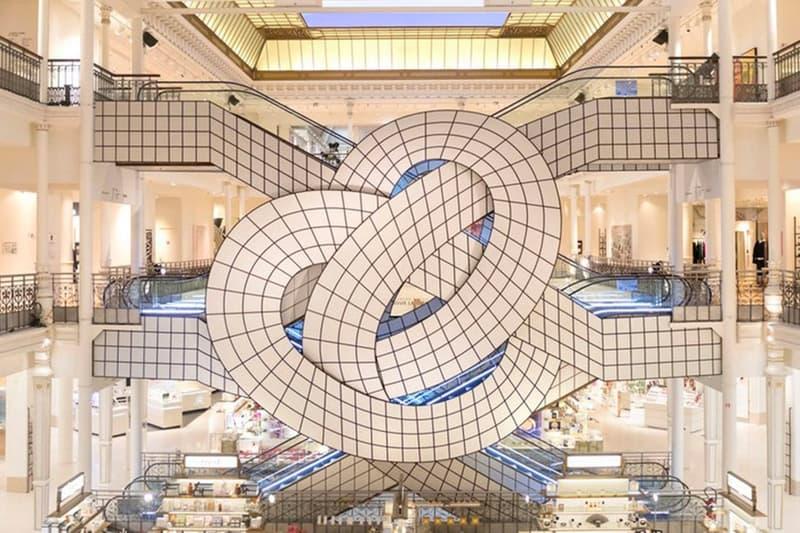 アルゼンチン芸術家レオナルド・エルリッヒがパリの老舗百貨店ボン・マルシェに作り上げた圧巻のインスタレーションをチェック Le Bon Marché ボン・マルシェ 百貨店 Leandro Erlich レオナルド エルリッヒ エスカレーター 天井 窓 雲 動く空 空 hypebeast