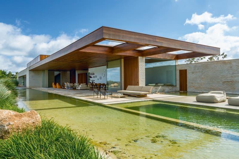 ブラジル・サンパウロ郊外の低地に建てられた景観に溶け込むサマーハウス MS House をチェック ブラジル サンパウロ 建築 デザイン hypebeast design architecture プール 池 別荘