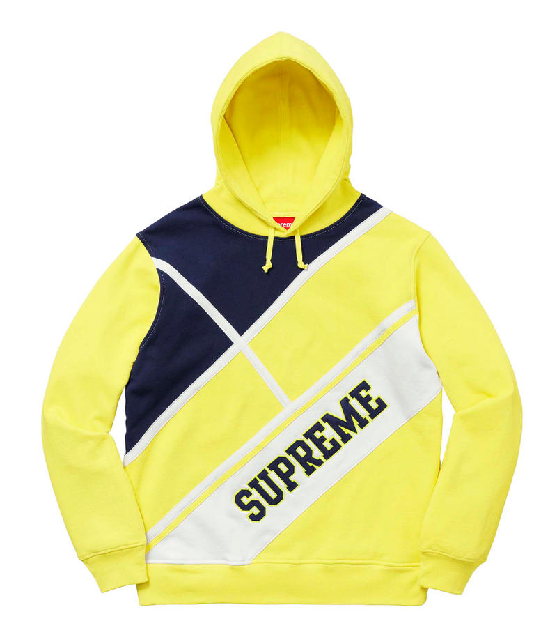 Supreme 2018年春夏コレクション  スウェット 米国に強いメッセージを投げかけるデザインからキング牧師のものまで、名作として語り継がれそうなフーディがずらり 最低でも1点か2点、欲を言えば3点、いや4点……〈Supreme(シュプリーム)〉のスウェットはとにかく購入できる限り購入したい、人気中の人気、王道中の王道商品だ。あえて初めにお伝えしておくが、2018年春夏コレクションではボックスロゴは登場しない模様。だが、ティーザーのインナーに採用されていたマーブルカラーのフーディに加え、「illegal business controls America.(違法なビジネスがアメリカを操作している)」という尖ったメッセージをプリントしたもの、さらにはキング牧師ことMartin Luther King, Jr.(マーティン・ルーサー・キング・ジュニア)をマルチで配した逸品まで、ボックスロゴ級に購買意欲を駆り立てられ、名作として語り継がれそうなアイテムが多数ラインアップしている。また、〈Champion(チャンピオン)〉とのコラボスウェットも非常にユニークなデザインで展開され、特にクルーネックの3段プリントは即完必至だろう。  アイテム選びに頭を悩ませる〈Supreme〉2018年春夏コレクションのスウェット各種はもちろんのこと、以下リストからルックブックならびにその他のアイテム一覧も隈なくチェックしておくべし。