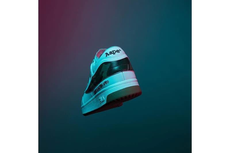 AAPE by A Bathing Ape x FILA Original Tennis Sneaker White Camo First Look