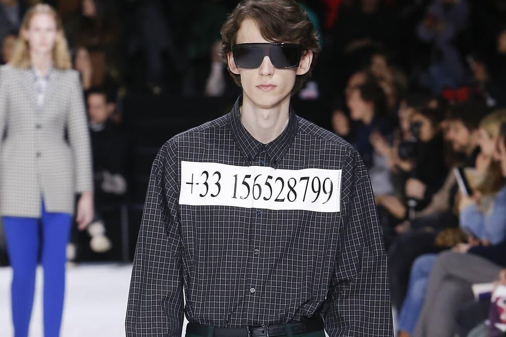 Balenciaga 2018年秋冬コレクションで登場したプリントシャツが話題に よくある偽の電話番号だと思いきや……