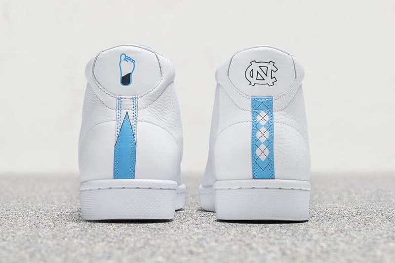 マイケル・ジョーダンがかつて所属したノースカロライナ大学仕様の Converse Pro Leather が登場 〈Converse〉のシェブロン&スターを〈Jordan Brand〉のジャンプマンにアップデート バスケの神様 Michael Jordan マイケル・ジョーダン Converse コンバース Pro Leather NCAA 全米大学体育バスケットボールトーナメント UNC ノースカロライナ大学 シェブロン&スター ジャンプマン オフィシャル契約 ユニホームカラー チームロゴ Nike ナイキ Tinker Hatfield ティンカー・ハットフィールド HYPEBEAST ハイプビースト