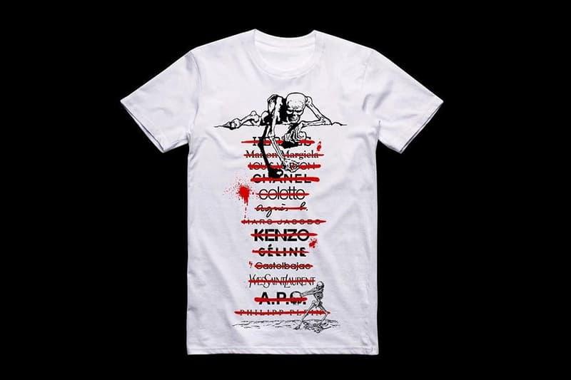 "Kidult が""犯行""に及んだブランドを晒しあげる ""DEATH NOTE"" Tシャツを発表 大手メゾンが厄介視するノートリアスな覆面アーティストが夜神月的なマインドセットで100枚限定の非売品Tシャツを刷る"