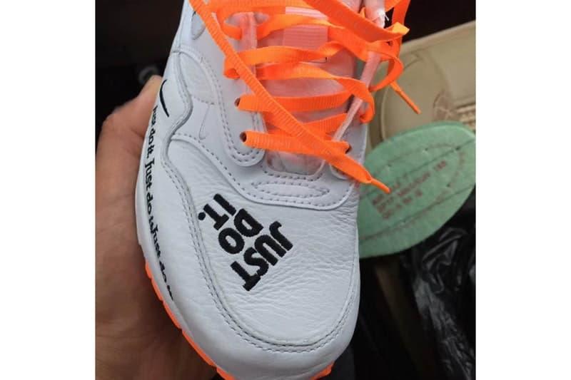 """Nike の広告コピー """"Just Do It"""" 誕生30周年を記念したデコラティブな Air Max 1 がリーク 敏腕実業家が考案した誰もが知るこのスローガンの由来はご存知? Virgil Abloh ヴァージル・アブロー The Ten Nike ナイキ 広告コピー Just Do It Wieden+Kennedy ワイデン アンド ケネディ Dan Wieden ダン・ヴィーデン 死刑囚 Let's do it! さぁ、やろうぜ Instagram @spicychickenwings Air Max 1 オレンジ シューレース ビジブルエア スウッシュ AM1 HYPEBEAST ハイプビースト インスタグラム"""