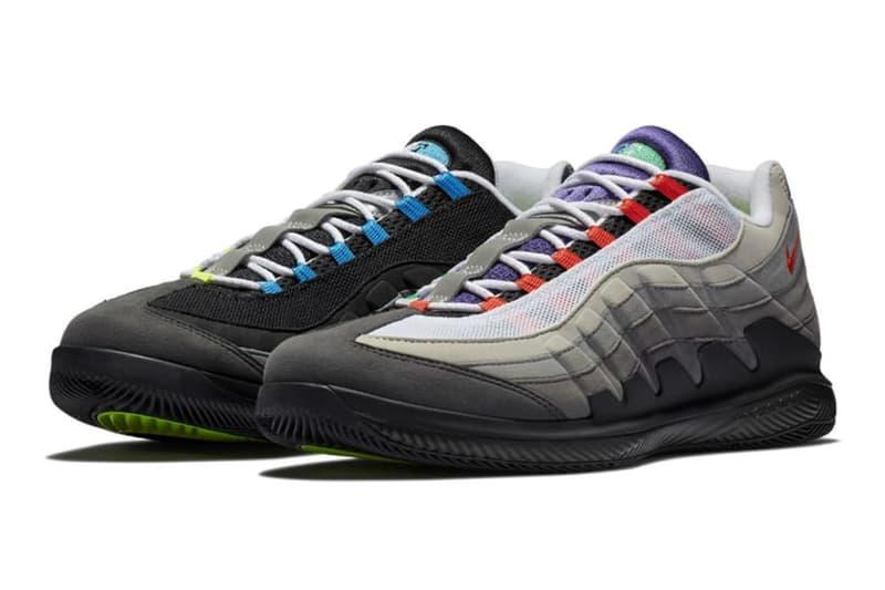 """Nike よりロジャー・フェデラーモデルと Air Max 95 を融合させた最新シューズ2型が登場 イエローグラデで知られる王道カラー""""Neon""""とマルチカラーが目を引く""""Greedy""""というファン垂涎の2色がラインアップ 36歳6カ月 世界ランキング1位 プロテニスプレイヤー Roger Federer ロジャー・フェデラー シグネチャーモデル Air Max 95 バスケの神様 Michael Jordan マイケル・ジョーダン AM95 Greedy イエローグラデ Neon NikeCourt Zoom Vapor RF 180ドル 約18,997円 3月20日 3月9日 NIKE.COM 高橋盾 UNDERCOVER アンダーカバー Nike ナイキ HYPEBEAST ハイプビースト"""