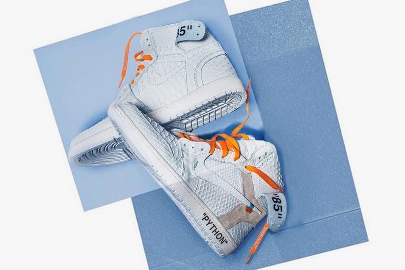 """The Shoe Surgeon の次なる標的は Off-White™️ x Nike Air Jordan 1 """"White"""" 高級志向のシューズカスタマー集団がAJ1をエキゾチックなパイソン素材でメイクオーバー"""