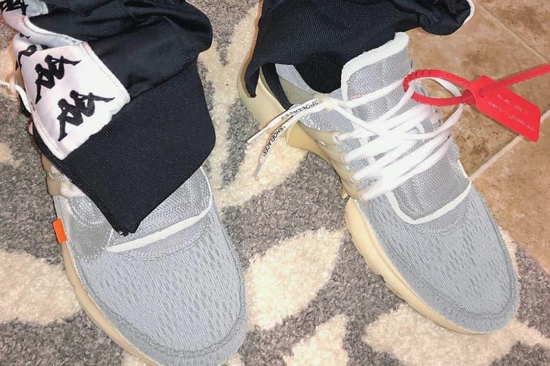 """ヴァージル・アブロー x Nike Air Presto 未発表モデルのビジュアルがリーク 『MoMA』コラボで用いられたシルバーの配色をアッパーに踏襲したエレガントな1足に注目 Virgil Abloh ヴァージル・アブロー Nike ナイキ コラボプロジェクト The Ten Air VaporMax Flyknit """"White"""" Air Max 97 Instagramer リーク Instagram zachcoffman Air Presto アッパー スウッシュ メタリックシルバー プレスト インスタグラム HYPEBEAST ハイプビースト"""