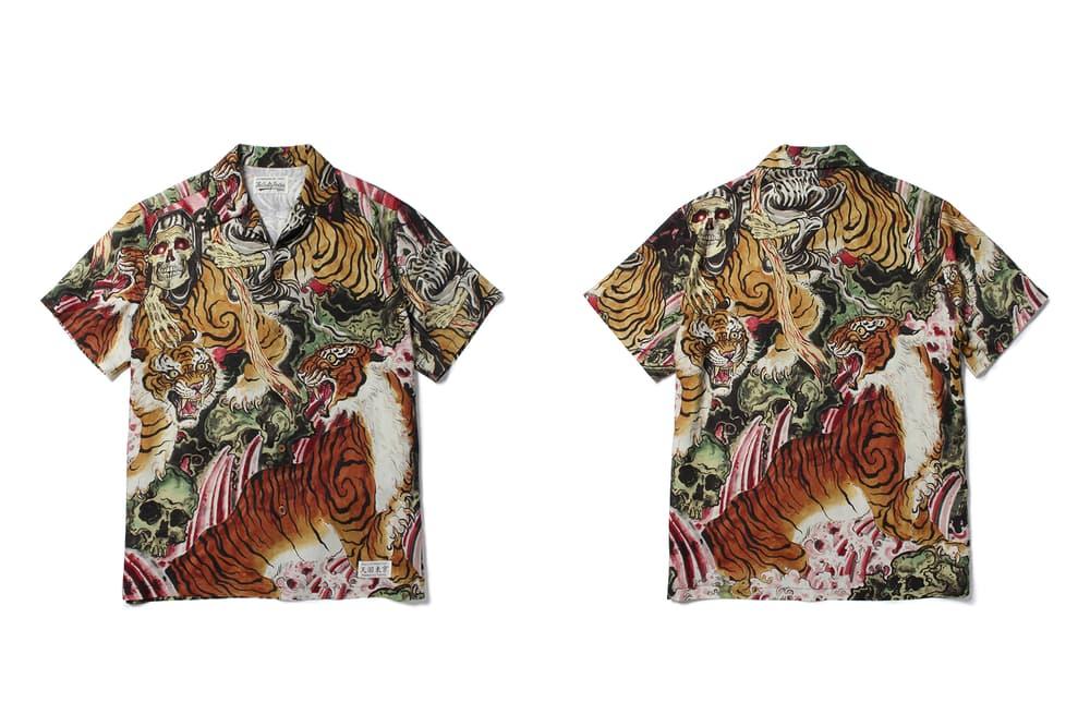 WACKO MARIA が和柄を得意とする人気タトゥーアーティストのティム・リーハイとコラボレーション Timが描き下ろした虎柄のアートワークをフィーチャーした厳ついラインアップ