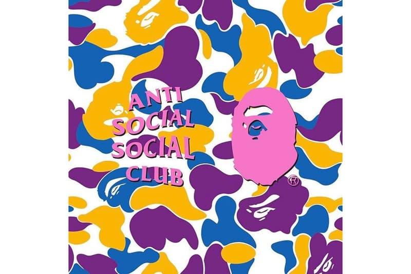 Anti Social Social Club が BAPE®️ との新たなコラボレーションを示唆するティーザー画像を公開 世界中のストリートヘッズが熱望したスペシャルコラボが実現か? NEIGHBORHOOD ネイバーフッド Anti Social Social Club アンチ・ソーシャル・ソーシャル・クラブ adidas アディダス FILA フィラ BAPE®️ ベイプ A BATHING APE®️ パープル ブルー オレンジ ホワイト カモフラ模様 BAPEヘッド HYPEBEAST ハイプビースト
