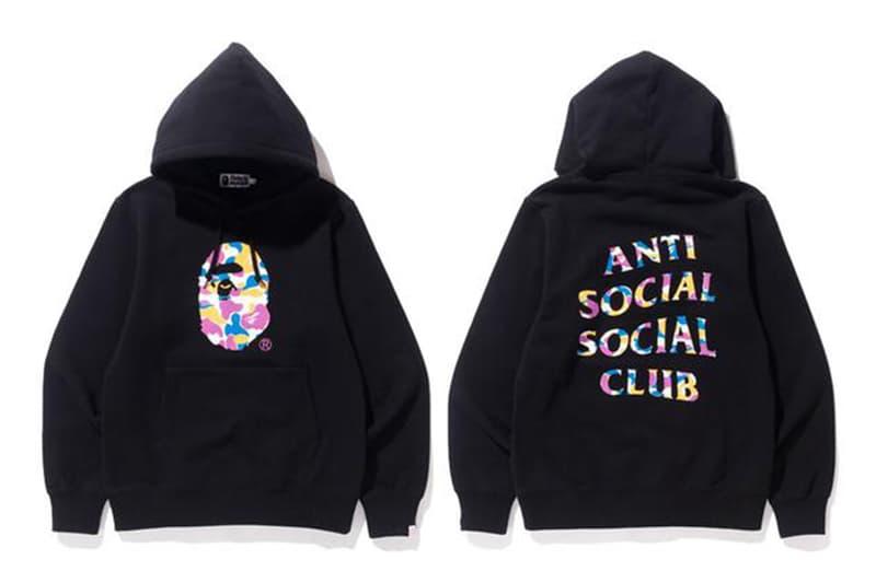 Anti Social Social Club が BAPE®️ とのコラボコレクションの公式ビジュアルを解禁 お馴染み〈ASSC〉のブランディングとエイプヘッドを配したフーディや総柄キャップなど、全3型のコラボアイテムがラインアップ Anti Social Social Club アンチ・ソーシャル・ソーシャル・クラブ Instagram BAPE®️ ベイプ A BATHING APE®️ BAPE STORE®️ LOS ANGELES エイプヘッド ASSC ブランディング フーディ プリントTシャツ 6パネルキャップ HYPEBEAST ハイプビースト
