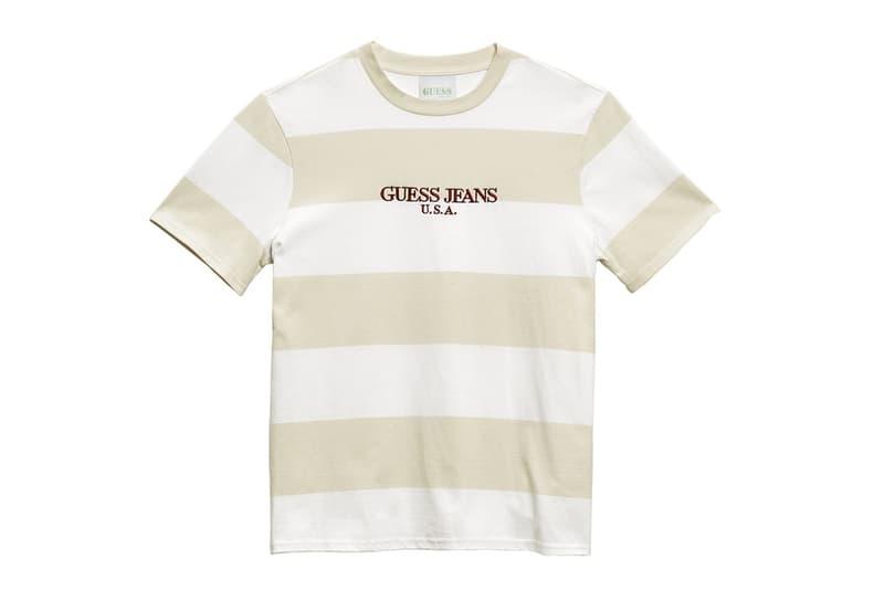 """ショーン・ワザーズプーン x GUESS Jeans U.S.A. のコラボTシャツ一覧 西海岸の陽気な雰囲気を体現した夏にガシガシ着たいS/S Tシャツが豊富にラインアップ 先日、""""VOTE FORWARD""""の覇者として一躍世界にその名を知らしめたSean Wotherspoon(ショーン・ワザーズプーン)は、〈GUESS Jeans U.S.A.(ゲス ジーンズ U.S.A.)〉とのコラボレーションを予告するティーザーを投稿していた。本稿では、そのコレクションにラインアップするTシャツにクローズアップしたい。  人気の中心は『Round Two』のオーナーらしく、ボディ、袖、衿のリブ、ロゴで配色を変えたカラフルなS/Sだろう。また、ボーダーTシャツはピッチ違いで2種類。そして、コレクションタイトルである""""GUESS Farmers Market""""の文字をU字状に背面プリントした一枚は、パイナップルのアクセントがトロピカルな印象を与えてくれる。  夏にガシガシ愛用したい注目のダブルネームは、5月5日(現地時間)より発売開始。これまでの〈GUESS〉の動きを見ると、日本へのデリバリーにはタイムラグがあるはずなので、詳細はブランドからのアップデートを待とう。  あわせて、クラシカルなストリートスタイルを提案する〈GUESS GREEN LABEL〉の最新コレクションもお見逃しなく。"""