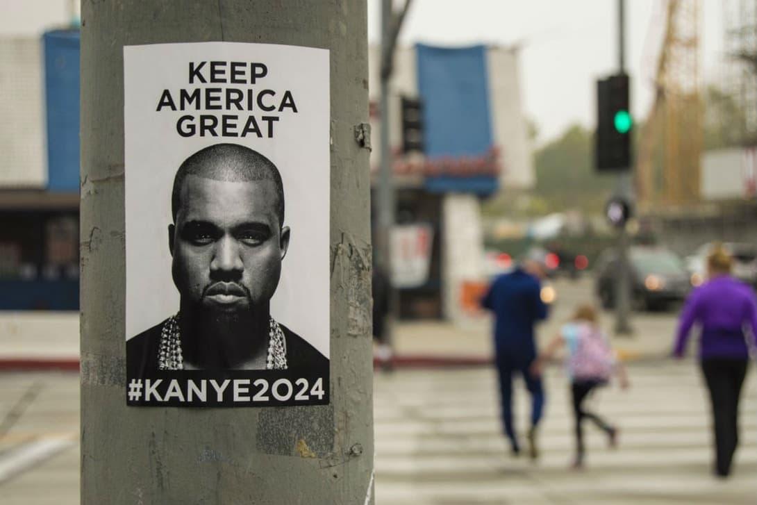 アメリカ各地の街中に Kanye West の政界進出を匂わせるポスターが突如出現