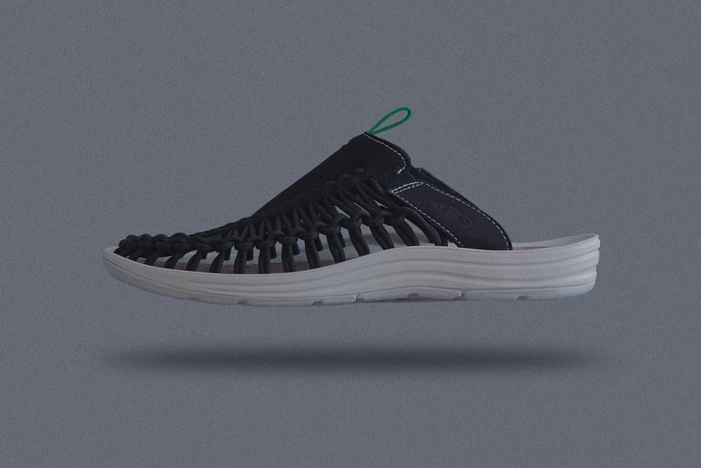 """サマーシューズの代名詞 UNEEK 2型を採用した KEEN x mita sneakers コラボコレクション第3弾 心地よさをテーマに都会の喧騒や雑踏を感じさせない深夜の首都高からインスパイアされたUNEEKとUNEEK SLIDEが今週末リリース オープンエアスニーカーという革新的なコンセプトを掲げ、一躍夏季フットウェアの代名詞的存在となった〈KEEN(キーン)〉のUNEEK。その人気の火付け役となった〈KEEN〉x『mita sneakers(ミタスニーカーズ)』の名タッグが帰ってくる。  第3弾となる本コラボでクリエイティブディレクターの国井栄之が採用したのは、UNEEKとかかとのストラップを無くしたスリッパタイプのUNEEK SLIDEの全2型。今回は""""Comfortable(心地よい)""""をテーマに都会の喧騒や雑踏を感じさせない深夜の首都高から着想を得たカラーパレットを用いながら、クールダウン、スムーズをキーワードにUNEEKシリーズ特有の機能性を具現化。UNEEKに設置されたバンジーコードの先端には、あえて熱収縮チューブを使用することで、〈KEEN〉のモダンクラフトマンシップを強調  今作は""""Comfortable(コンフォータブル)""""をテーマに""""都会の喧騒や雑踏を感じさせない深 夜の首都高""""から着想を得たカラーパレットを用いながら""""クールダウン""""や""""スムーズ""""のキ ーワードを「UNEEK」シリーズ特有の「機能性」に照らし合わせて具現化。「UNEEK」 に設置された「バンジーコード」の先端には、敢えて「HEAT SHRINK TUBE(熱収縮チュ ーブ)」を使用する事で「KEEN」のモダンクラフトマンシップをディテールで強調している。また、第1弾、第2弾に引き続き、インソールにはコルクインソールを。さらに、スニーカーとの共存という『mita sneakers』らしいコンセプトの象徴として、どちらのモデルにも東京のアイコンカラーであるグリーン採用したカラビナをループさせるタブが配置されている。  価格はUNEEKが12,500円、UNEEK SLIDEが10,000円(どちらも税抜)で、発売日は4月21日(土)。サマーシーズンの準備に、ひとまず『mita sneakers』が提案する都市型UNEEKの購入を検討してみてはいかがだろうか。"""