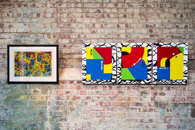"""ブロンディ・マッコイやマーク・ゴンザレスら豪華著名人によるアート展 """"426m2"""" に潜入 総勢34名のアート作品がランダムに敷き詰められたストリートな空間をチェック StolenSpace Gallery South Bank LONG LIVE SOUTH BANK 総勢34名 アートエキシビジョン 426m2 スケートデッキ 個性豊かなグラフィック スカルプチャー All a Tremulous Heart Requires Blondey McCoy ブロンディ・マッコイ Gonz ゴンズ Mark Gonzales マーク・ゴンザレス ドラムンベースの帝王 DJ/プロデュサー Goldie ゴールディー ストリートアーティスト D*Face ディフェイス ウィートペーストアーティスト Shepard Fairey シェパード・フェアリー HYPEBEAST ハイプビースト"""