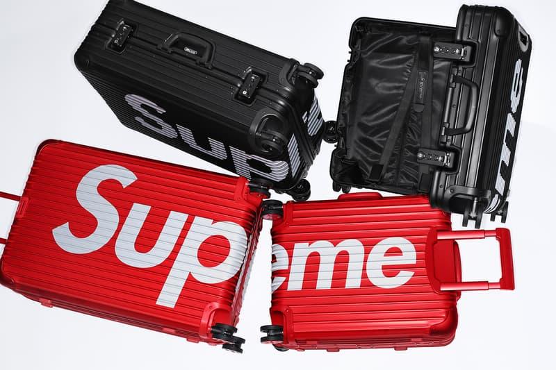"""#WEEK8 に登場する Supreme x RIMOWA のオフィシャルビジュアルが公開  著名セレブも愛用するベストセラー""""Topas Multiwheel""""を全2サイズで展開"""