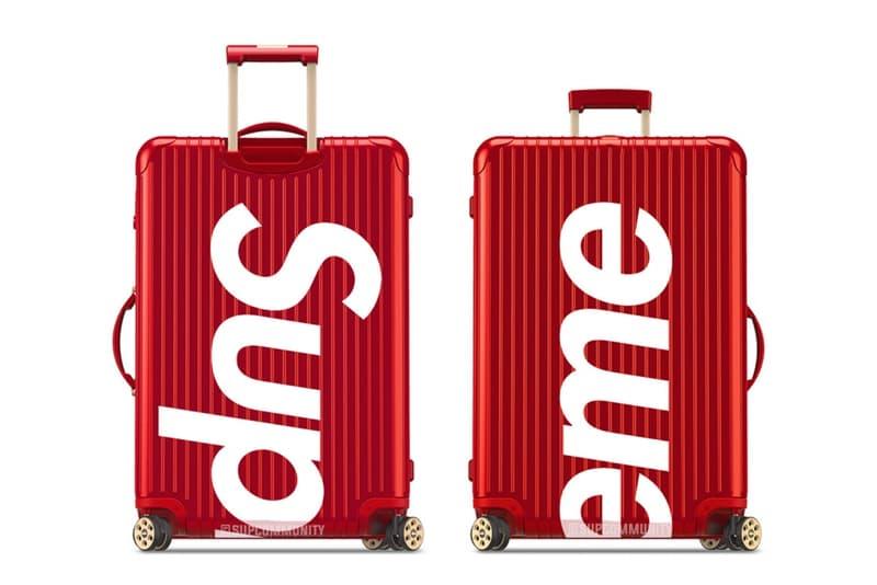 Supreme が高級ラゲージメーカー RIMOWA とのコラボレーションを予告 Sup信者であれば是が非でも旅行のお供にしたいスーツケースは今週末の発売が有力か
