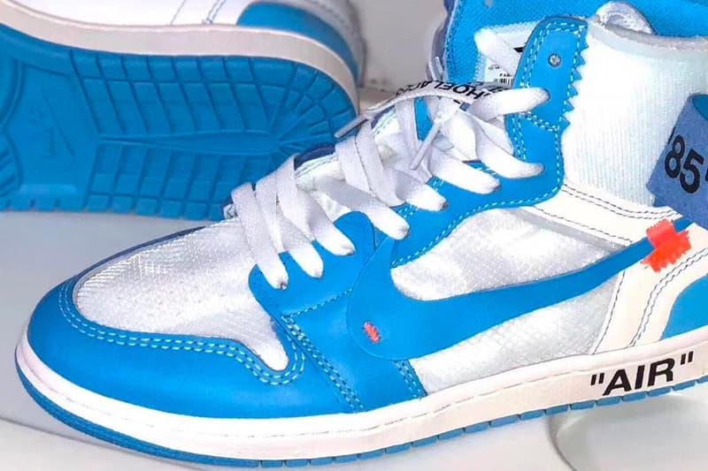 """ヴァージル・アブローの意欲作 Air Jordan 1 """"UNC"""" を捉えたリークビジュアルが登場 ヘッズ諸君が血眼になって狙う1足のリリース日&価格は…… IKEA イケア Virgil Abloh ヴァージル・アブロー 村上隆 トートバッグ Nike ナイキ The Ten Air Jordan 1 """"UNC"""" Michael Jordan マイケル・ジョーダン ノースカロライナ大学 UNC スウッシュ DIY 6月9日 190ドル 約20,772円 @Pinoe77 HYPEBEAST ハイプビースト"""