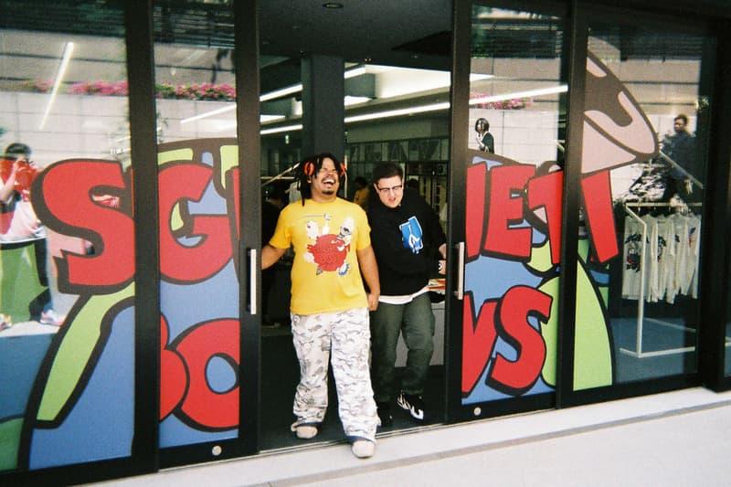 """Back to Film:Spaghetti Boys が記録した NUBIAN HARAJUKU のオープニングイベント A$AP Rockyの客演にも迎えられたシカゴの新鋭ラッパー Famous Dexが参戦し、世界的ファッションアイコンのルカ・サバトも乱入 世界最大規模の野外フェス「Coachella(コーチェラ)」にも出演し、誰もが知るビッグレーベルとのコラボレートも噂されているSpaghetti Boys(スパゲッティ ボーイズ)は、DJとしての活動のみならず、〈Off-White™️(オフホワイト)〉や〈Heron Preston(ヘロン プレストン)〉にもパートナーに招聘され、その名を冠したブランドが人気沸騰中だ。『ビーバス・アンド・バットヘッド』などに象徴される90年代のコミカルな世界観を取り入れたアパレルは瞬く間にファンの心を掴み、先日は移転リニューアルを遂げた『NUBIAN HARAJUKU』で世界初のストア展開も決定したばかり。そのSpaghetti Boysにレンズ付きフィルムカメラを託し、『1OAK』で開催された『NUBIAN HARAJUKU』のオープニングイベントの様子をキャプチャーしてもらった。  """"NUBIAN HARAJUKU -GRAND OPENING PARTY-""""には、A$AP Rocky(エイサップ・ロッキー)の客演に迎えられ、#JapanChallengeのタグで爆発的ヒットを記録した""""JAPAN""""のリリースも記憶に新しいシカゴ出身の新鋭ラッパー、Famous Dex(フェイマス デックス)が参戦。また、同時期に来日していたカリスマモデル、Luka Sabbat(ルカ・サバト)も乱入し、満員の会場は終始熱気に包まれていたようだ。  Spaghetti Boysの注目度の高さが伺える""""Back to Film""""を是非、上のフォトギャラリーからチェックしてみてほしい。〈HUF(ハフ)〉のクリエイティブチームやDesiigner(デザイナー)なども参加した同企画のアーカイブ記事は、こちらからプレイバック。"""
