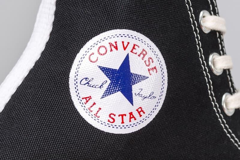 PLAY COMME des GARÇONS x Converse による最新コラボフットウェアが計4型ゲリラリリース ヴァージルコラボでも話題沸騰中のChuck Taylor '70をベースモデルに採用 CDG COMME des GARÇONS コム デ ギャルソン ワンポイント Converse コンバース グラフィックアーティスト Filip Pagowski フィリップ・パゴウスキー ハートロゴを Virgil Abloh ヴァージル・アブロー Chuck Taylor '70 Hi Low ブラック ホワイト 125ドル 約13,685円 HYPEBEAST ハイプビースト