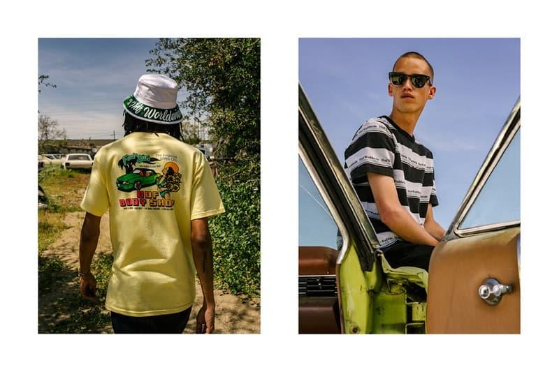 """アメリカのロードトリップを彷彿させる HUF の2018年夏コレクション 格安モーテルにマッスルカー……旅に出たくなるルックブックから今季のキーピースをチェックせよ 〈HUF(ハフ)〉からアメリカのロードトリップに着想を得た2018年夏コレクション""""The Last Resort""""のルックブックが到着。今季は格安モーテルのネオンサインや貰ってもやり場に困るようなモノを取り扱うお土産屋にインスパイアされたグラフィックを採用し、Tシャツ、ボーリングシャツ、コーチジャケット、ジップアップフーディ、タイダイおよびカモフラ柄のストリートウェアなどを展開する。  また、フットウェアカテゴリーからは、〈HUF〉を象徴するInfinityラバーと立体感のあるフォクシングテープを組み合わせ、通気孔でHロゴを表現したヴァルカナイズド製法採用の新モデル、Cliveが登場。そして、スタイルとスキルを兼備するマイアミのトップスケーター、Brad Cromer(ブラッド・クローマー)のシグネチャーモデルはフラミングカラーのスエードにメイクオーバーされ、Hupper 2 Loもブルーナイトスエードとキャンバスの2種類がラインアップした。  〈HUF〉の""""The Last Resort""""コレクションは5月17日(現地時間)より発売開始とのことなので、@hufjpなどをチェックしつつ国内デリバリーの情報を仕入れていこう。  あわせて、新店舗『HUF HARAJUKU』のオープンに際して来日していた〈HUF〉のクリエイティブチームがレンズ付きフィルムで記録したフォトダイヤリー&インタビューもチェックしてみてはいかが?"""