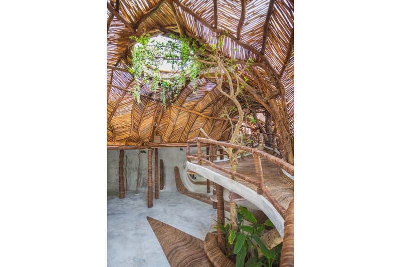 ジブリの世界を彷彿とさせる自然派アートギャラリー IK Lab が完成 展示作品より目立ってしまいそうなツリーハウス風のデザイン空間をチェック メキシコ トゥルム アートギャラリー IK Lab ツリーハウス 現地の木材 コンクリート リラックスムード HYPEBEAST ハイプビースト