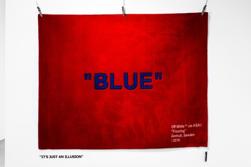 """ヴァージル・アブロー x IKEA のタッグがコラボシリーズ """"MARKERAD"""" を遂にお披露目 virgil abloh イケア HYPEBEAST ハイプビースト 家具 ラグ keep off blue"""