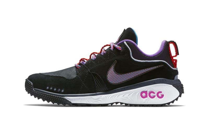 Nike ACG Dog Mountain Black white pink trail runner shoes