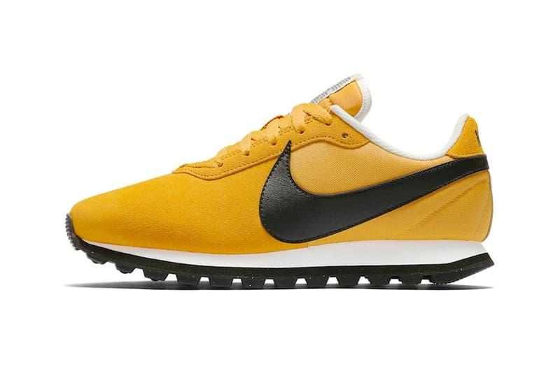 """Nike がヴィンテージのランニングモデルを彷彿させる新作 Pre-Love OX を発表 ランニング界に革命を起こした不朽の名作のDNAを現代へと継承した〈Nike〉の新たな意欲作 〈Nike(ナイキ)〉と聞くと、やはりJordanシリーズやAir Maxなどを想像しがちだが、創設者であるBill Bowerman(ビル・バウワーマン)は元々陸上のトラックフィールドコーチであり、ブランドのルーツはランニングにある。その〈Nike〉を一流ブランドへと押し上げたのは他でもない、Billが開発した不朽の名作、Cortezだろう。その洗練されたフォルムと優れたクッショニングはスニーカーシーンに革命をもたらし、CortezのヴィンテージはWaffle RacerやLD-1000などと並び、伝説として現代に語り継がれている。  その〈Nike〉がブランドの原点に立ち返り、Pre-Love OXと題した新作を発表。山吹色を纏った本作からは、前述のランニングモデルのDNAを感じることだろう。特筆すべきディテールは、表裏を反転してあしらわれたシュータンのタグ。通常は筆記体ロゴが表に来るはずだが、Pre-Love OXでは商品説明の面を外側にしてタグが縫い付けられている。また、左右のヒールタブにも""""NIKE""""と""""SWOOSH""""の文字をそれぞれ並べ、アウトソールもAir Maxなどと比較して溝の深いものを採用している。  Pre-Love OXの発売日に関する詳細は明らかになっていないが、早ければ今年7月にもオンラインに登場する見込み。〈Nike〉はいつものごとく、『SNKRS』のアップデートを随時確認していこう。  同じくヴィンテージの香りが漂う〈Nike ACG〉の 2018年春夏コレクションもお見逃しなく。 HYPEBEAST"""