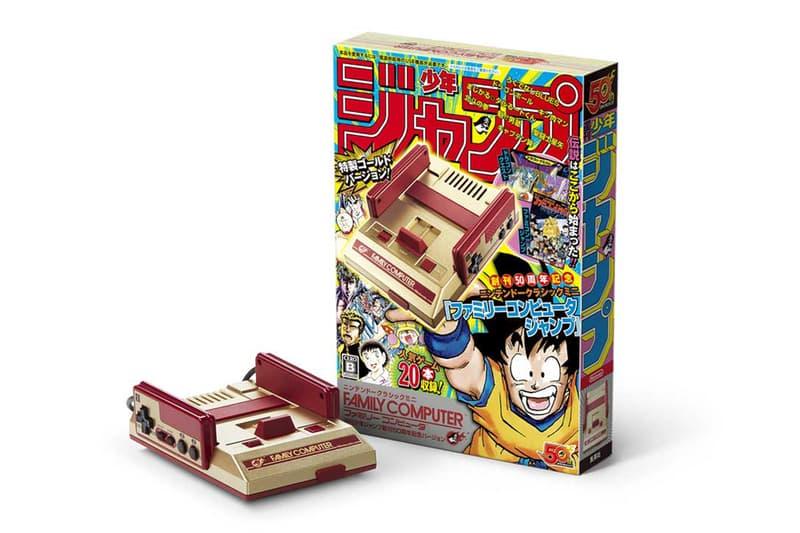任天堂が『週刊少年ジャンプ』の創刊50周年を記念したミニファミコンを発表 『ドラゴンボール』や『キャプテン翼』、『北斗の拳』など、世界的ヒットを誇る全20タイトルを収録 Nintendo Switch ニンテンドースイッチ 任天堂 週刊少年ジャンプ 創刊50周年 クラシックミニ ファミリーコンピューター ミニファミコン ドラゴンボール 聖闘士星矢 キン肉マン 名キャラクター 全20本 7,980円 2018年7月7日 キャプテン翼 ドラゴンクエスト HYPEBEAST ハイプビースト