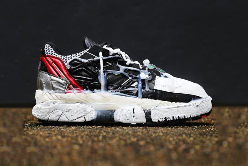 """Maison Margiela よりダーティな装飾を纏った最新フットウェアが登場 """"フランケンシュタインの怪物""""を想起させるド派手スニーカーを今すぐチェック Maison Margiela メゾン メルジェラ Fusion Sneakers ダクトテープ HYPEBEAST ハイプビースト"""