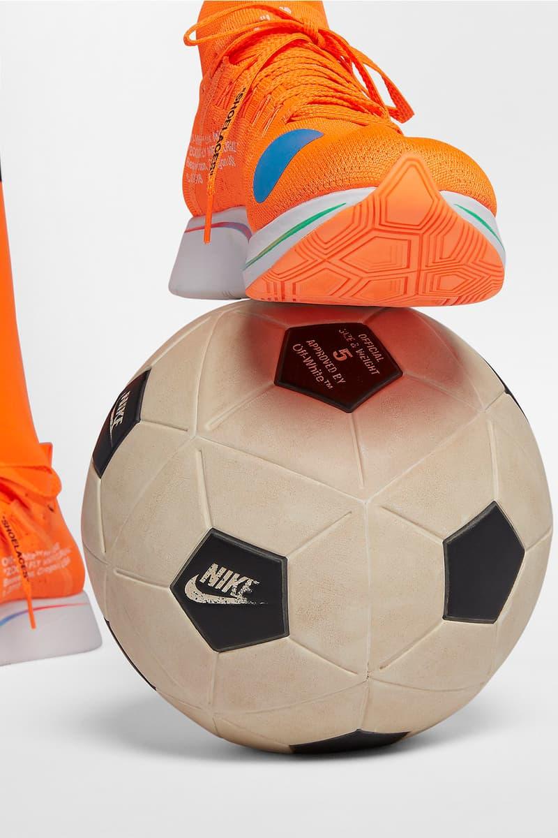 Off-White™ x NikeLab によるコラボフットボールカプセルの全アイテム価格一覧 日本展開が不安視されていたサッカーボールを含む全ラインアップのディテールルックも公開中 Kim Jones キム・ジョーンズ NikeLab ナイキ ラボ Football Reimagined フットボール リイマジンド Virgil Abloh ヴァージル・アブロー Off-White™ オフホワイト Football, Mon Amour 価格一覧 6月14日(木) NikeLab.com HYPEBEAST ハイプビースト