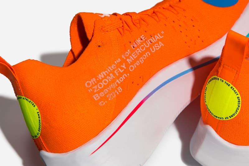 Off-White™ x Nike による最新コラボ作 Flyknit Zoom Fly にクローズアップ
