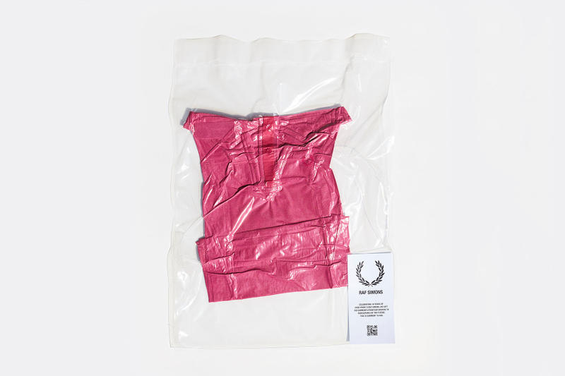 フレッド ペリー ラフ シモンズ 10周年 ポロシャツ アーカイブ ピンク