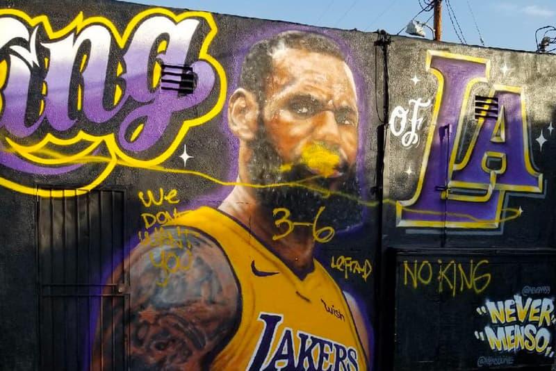 レブロン・ジェームズ NBA レイカーズ 壁画