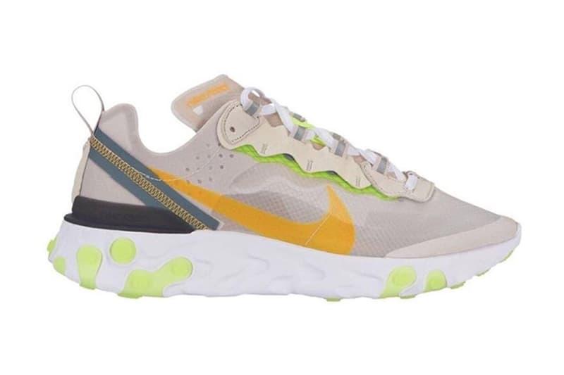 Nike React Element 87 にエネルギッシュな新色モデルが2型登場? 特徴的なパーツにポップな色合いを落とし込んだ注目作の発売日は…… UNDERCOVER アンダーカバー Nike React Element 87 ナイキ リアクト エレメント 87 6月21日(木) ニューカラーモデル @Pinoe77 凸凹ミッドソール パッションカラー 2019年 HYPEBEAST ハイプビースト