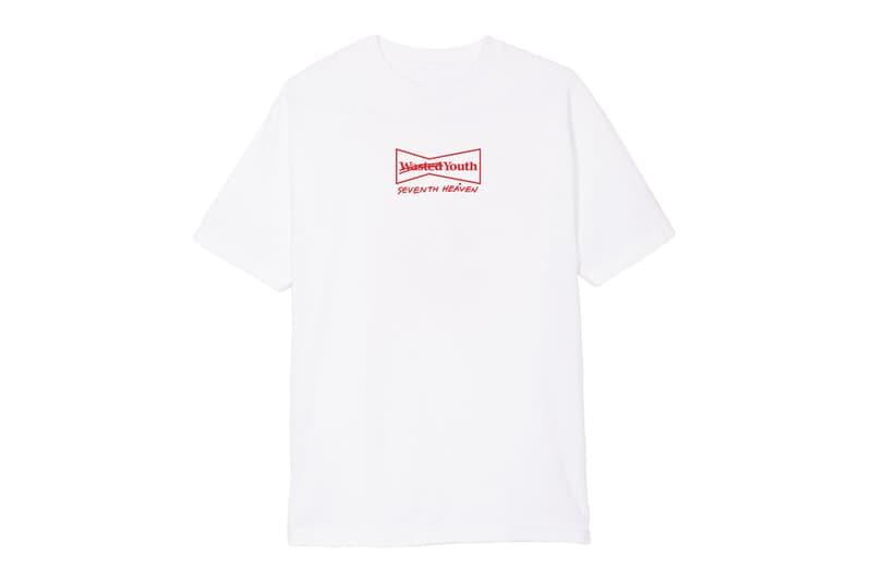 SEVENTH HEAVEN x Wasted Youth の限定Tシャツが NUBIAN HARAJUKU でゲリラリリース決定 今世界で最も注目すべきIt BoyであるJohn RossとVERDYのスペシャルコラボが実現 移転後、さらなる進化を遂げた『NUBIAN HARAJUKU 』がSpaghetti Boys(スパゲッティ ボーイズ)に続く新たな企画を仕掛けるようだ。今回はストリート/ヒップホップシーンのIt BoyであるJohn Ross(ジョンロス)主宰の〈SEVENTH HEAVEN(セブンス ヘブン)〉を招聘し、2日限定のポップアップを開催。John Rossについて前置きをしておくと、彼は独特な着こなしが世界中の感度の高い人々から視線を集め、現在のヒップホップシーンを賑わせるLil Uzi Vert(リル・ウージー・ヴァート)やPlayboi Carti(プレイボーイ・カルティ)などといった若手気鋭ラッパーらと親交が深いことでも知られるアメリカ・ロサンゼルスを拠点とするインフルエンサーである。  『NUBIAN HARAJUKU 』では〈SEVENTH HEAVEN〉のフルコレクションを日本国内で初展開。さらに、今回は今、東京ストリートで最もホットなアーティストと言っても過言ではないVERDY(ヴェルディ)の〈Wasted Youth(ウェイステッド ユース)〉と限定Tシャツをゲリラリリース。〈Wasted Youth〉お馴染みのグラフィックに遊びをきかせた1枚は、是が非でも手に入れておきたいところだろう。  ポップアップの会期は7月14日(土)、15日(日)となっているが、購入を検討している方は事前に『NUBIAN』のブログに記載されている注意事項をチェックしておこう。なお、当日はJohn Rossも訪れるスペシャルイベントも開催されるほか、シークレットアイテムも販売されるとのことなので、そちらもお楽しみに。