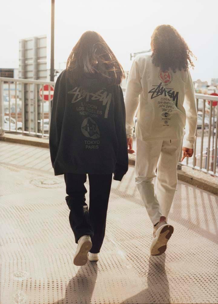ステューシー i-D コラボ Tシャツ ホワイトブラック