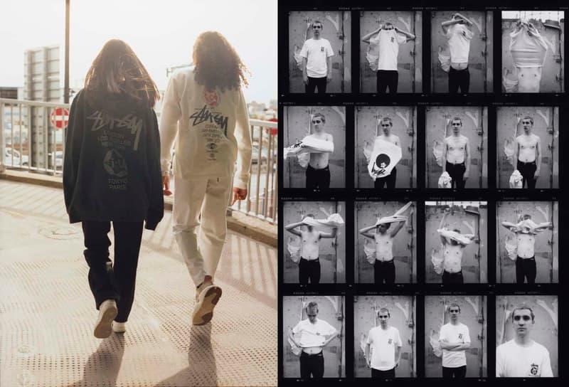 ステューシー i-D コラボ Tシャツ ホワイト ブラック