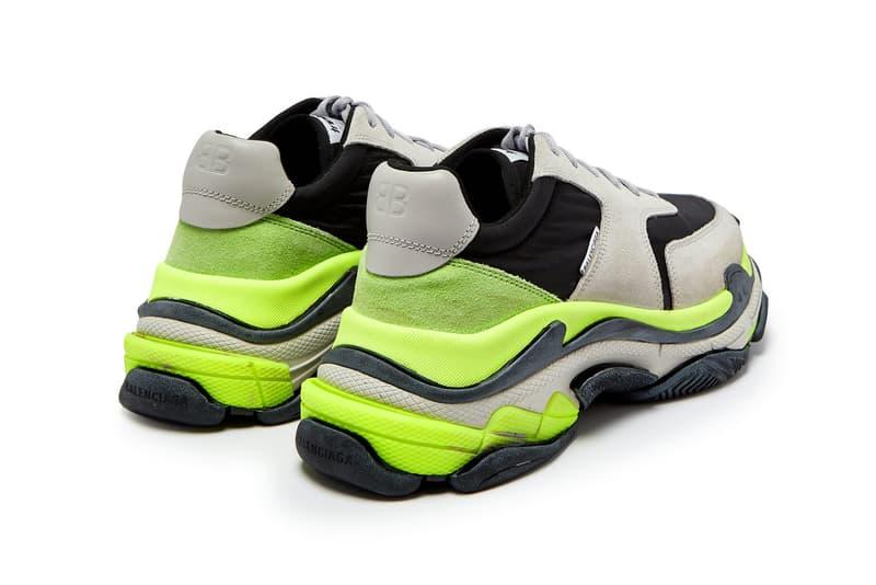 """""""Neon"""" カラーを散りばめた Balenciaga Triple S の新色モデルがゲリラリリース アクティブな色合いを纏った夏仕様のダッドスニーカーを今すぐ購入せよ Balenciaga バレンシアガ Triple S チャンキーソール Nike ナイキ Neon ブラック 公式オンラインストア 113,400円(税込) HYPEBEAST ハイプビースト"""