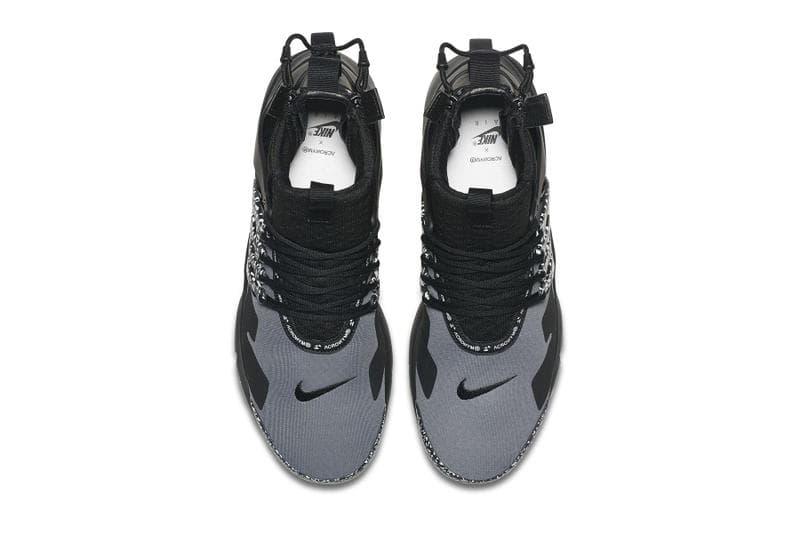 9月発売が噂される Nike x ACRONYM® 新作コラボ Air Presto Mid のビジュアルがリーク ナイキ エア プレスト HYPEBEAST ハイプビースト